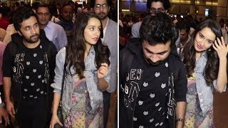 Shraddha Kapoor With Brother Siddhanth At Mumbai Airport Returning From Haseena Parkar Promotion