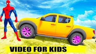 Spiderman Driver Mitsubishi L200 Triton vs Cartoon for kids vs Nursery Rhymes Songs