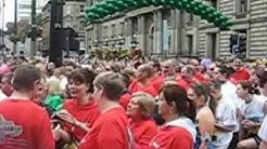 Great Scottish Run 10k mustering in George Square 2012