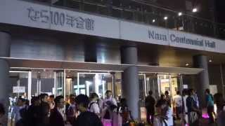 渡辺美優紀さんの地元生誕のチームBⅡコンサートが行われたなら100年会館、当日の様子です 大して面白い映像はありません^^;