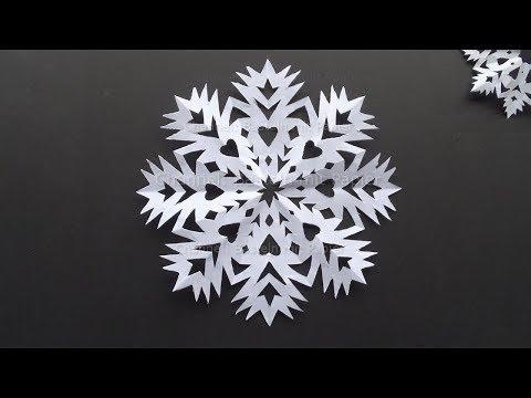 Schneeflocken basteln mit Papier im Winter - Einfache DIY Bastelideen Weihnachten