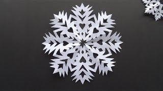 Schneeflocken basteln mit Papier im Winter - Einfache DIY Bastelideen