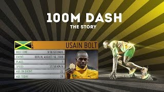 The story of the 100m dash under 10 seconds | Usain Bolt 9.79 world champion the run within