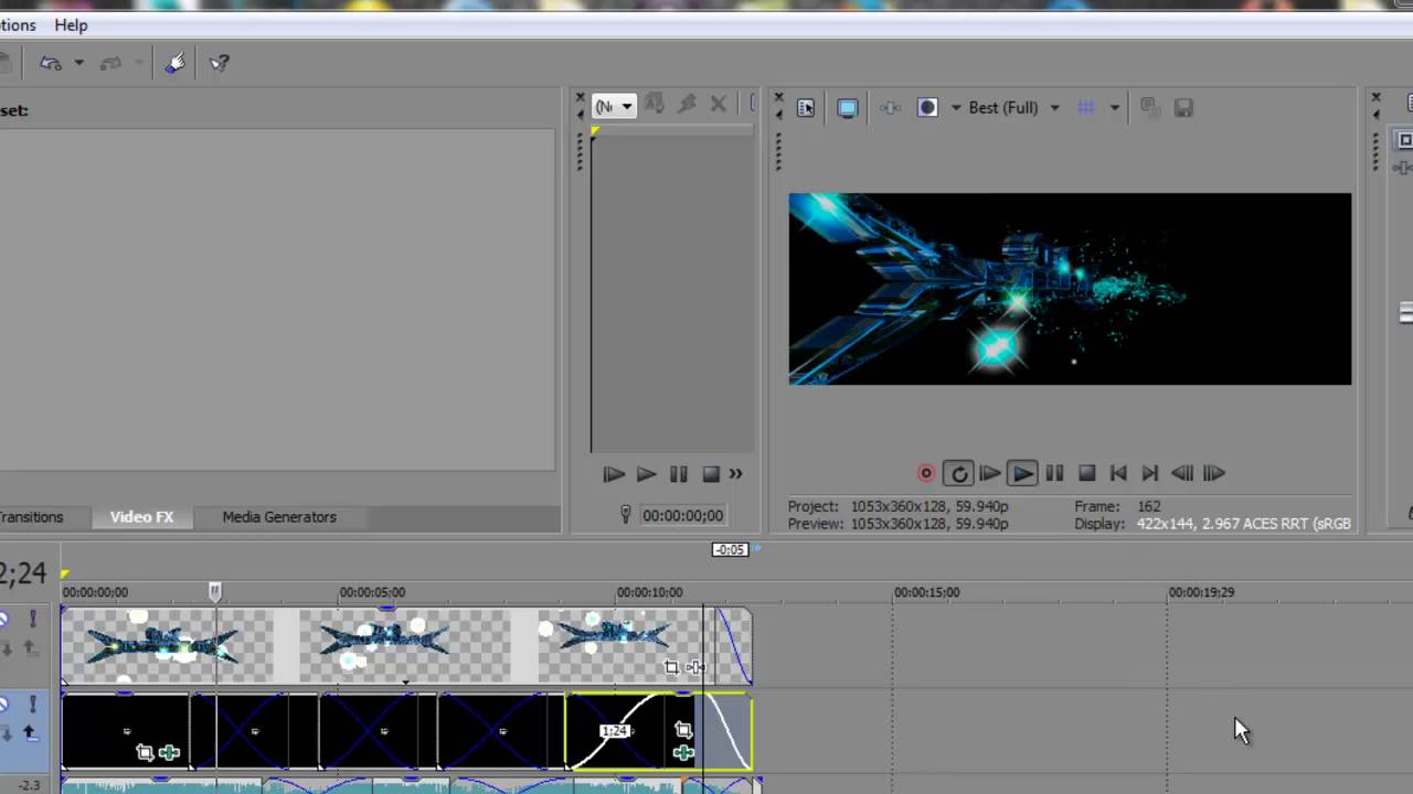 how to make a video transparent sony vegas