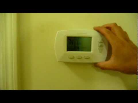 honeywell 5-2 day programmable thermostat installation how to (hd) - youtube