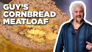 Guy Fieri's Cornbread Stuffed Meatloaf | Guy's Big Bite | Food Network
