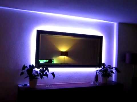 led verlichting rondom de spiegel youtube. Black Bedroom Furniture Sets. Home Design Ideas