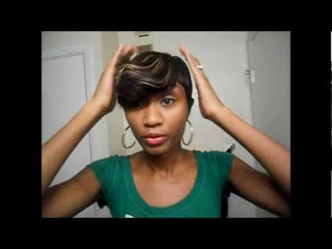 short quick weave wig show n tell youtube
