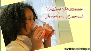 Homemade Strawberry Lemonade With Kids!
