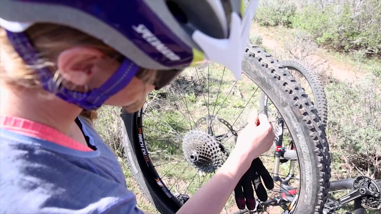How To Fix A Flat Tire On Trail Mountain Bike Repairs Part 1