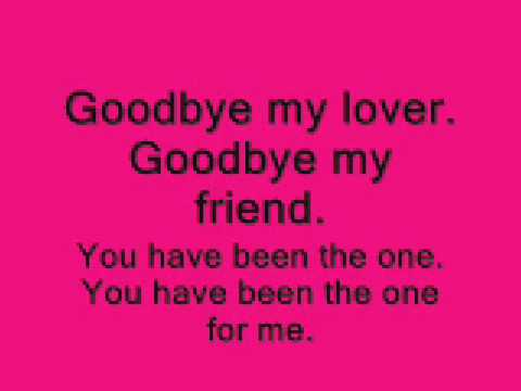 lyric good bye my lover james blunt: