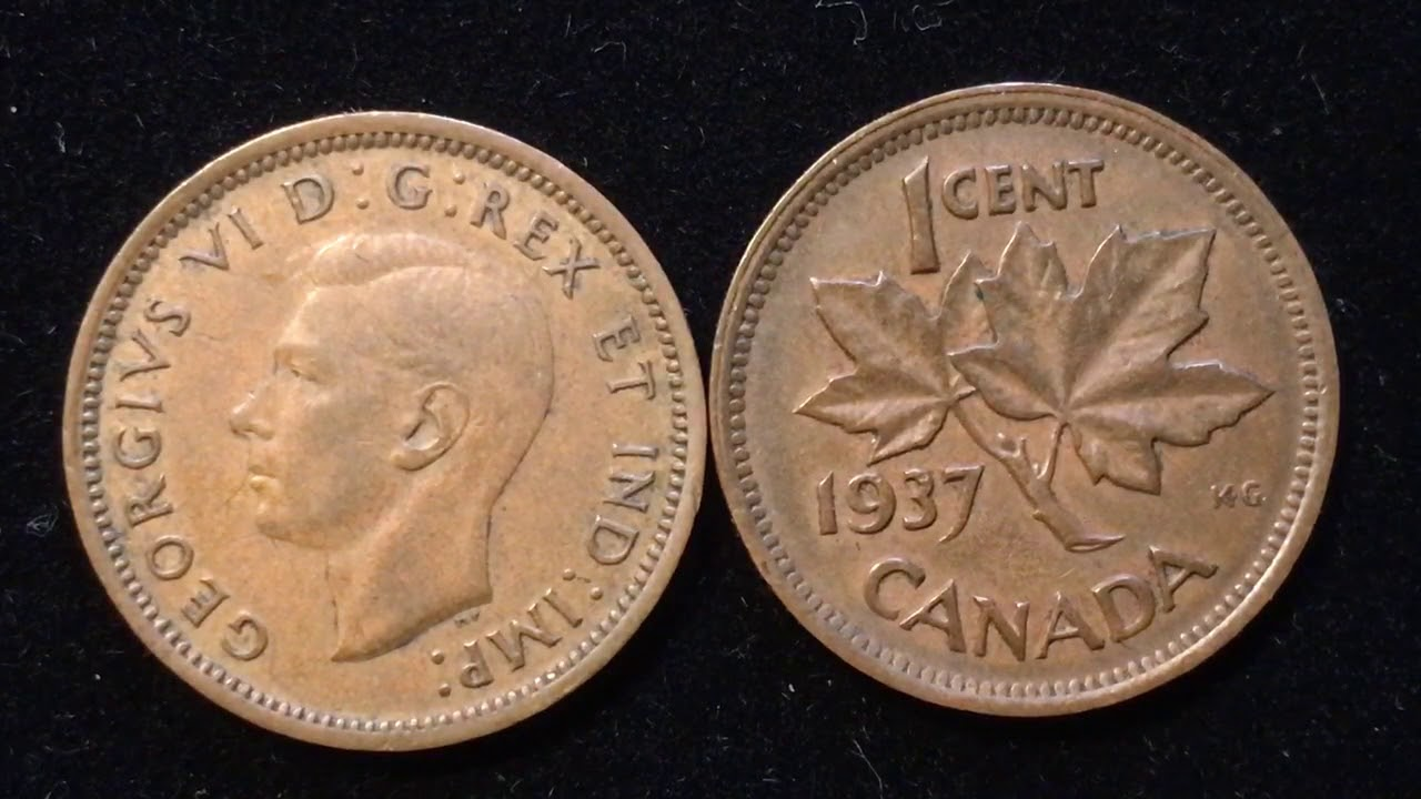1937 Canada 1Cent Coin