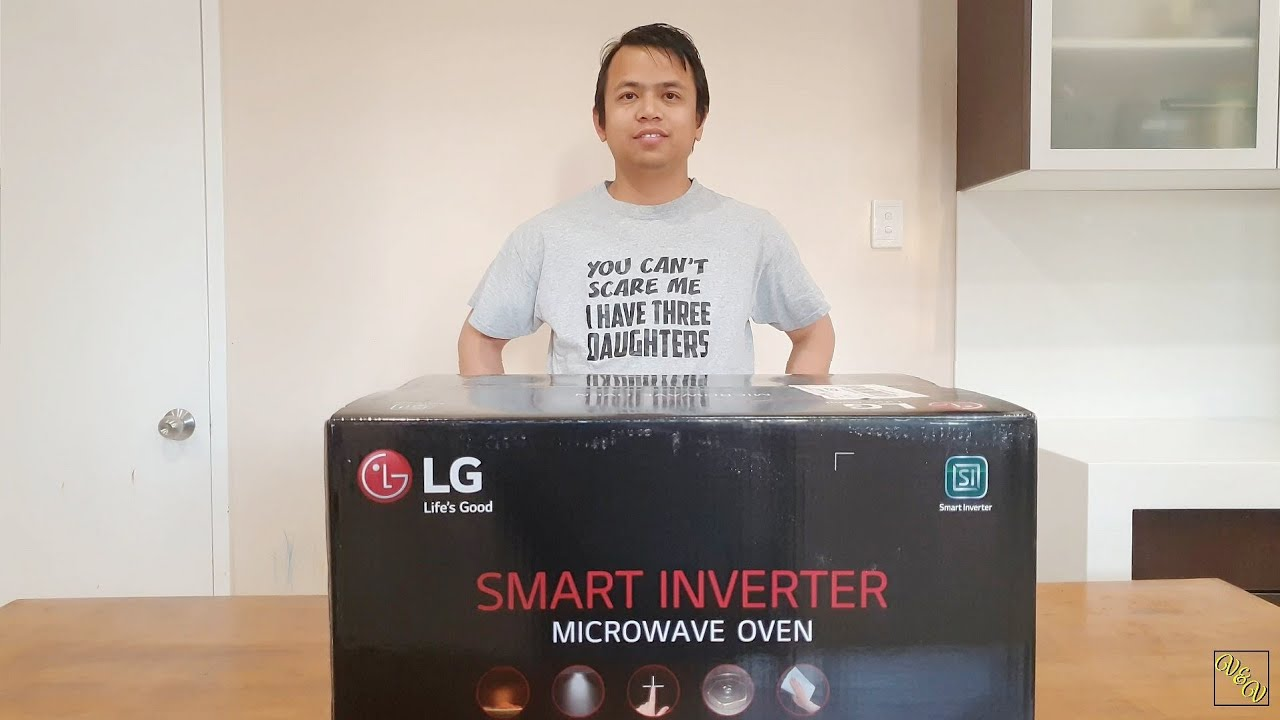 unboxing lg neochef 42l smart inverter microwave oven stainless steel