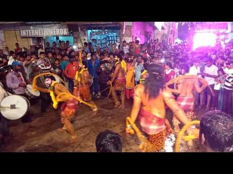 Ramanthapur bonalu 2016 potharaj dance