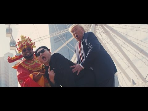 Donald Trump, Kim Jong Un, Obama & Chris Polanco in Chinese New Year Song w/ God of Fortune