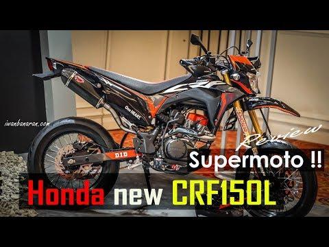 Honda new CRF150L versi modif Supermoto, celengan ambrol cakk !!