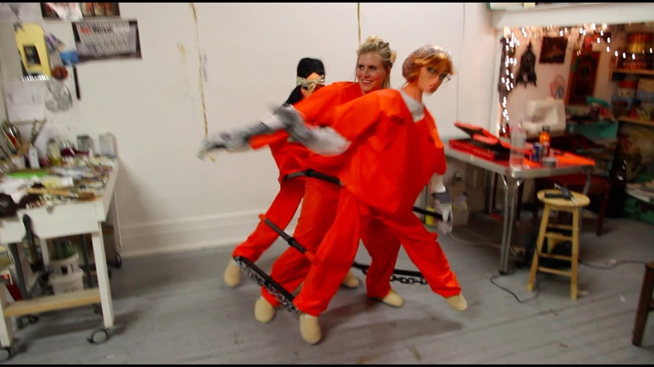 orange is the new black dancing chain gang costume - youtube