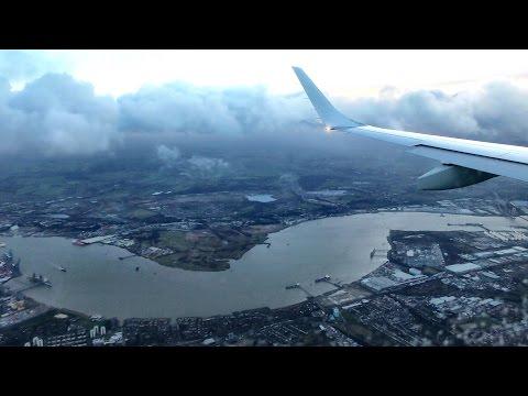 Lufthansa Full Flight LH936 from Frankfurt to London City Airport. Embraer ERJ-190.  D-AECH