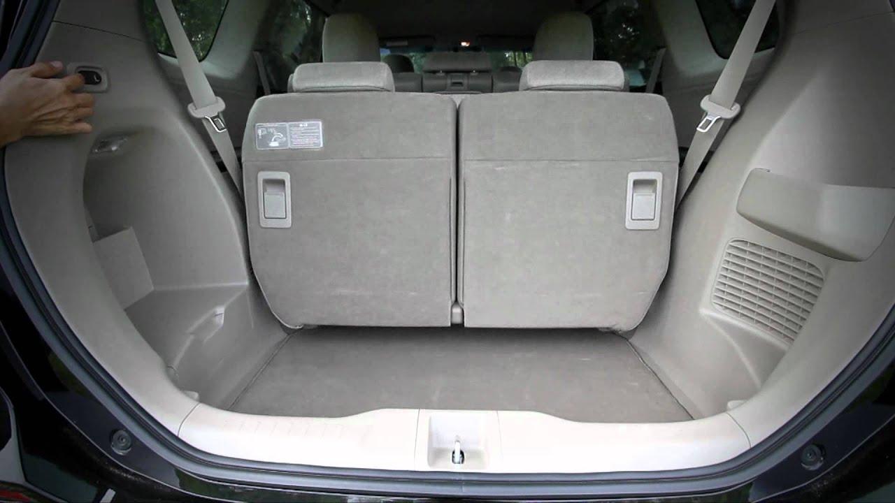 honda odyssey rear seat fold youtube. Black Bedroom Furniture Sets. Home Design Ideas