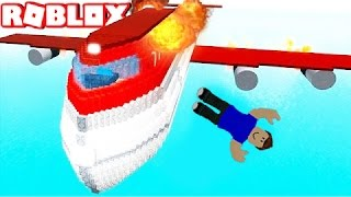 JUMPED to SURVIVE the CRASH of PLANE in ROBLOX
