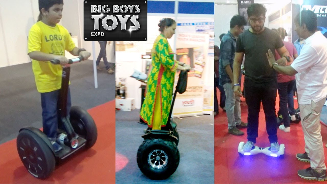 Big Boy Toys Car Show : Segway and scooter steals the show at big boys toys expo