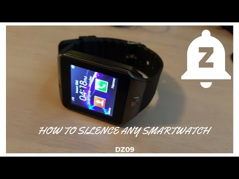 How to Put your Smart Watch on Silent (DZ09) HD
