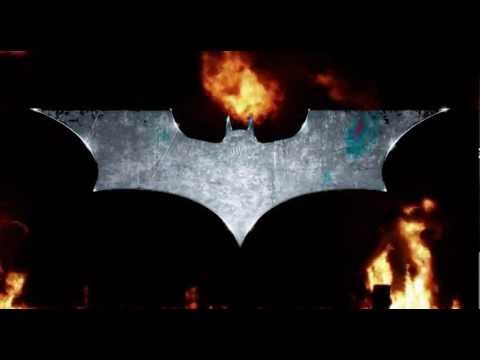 Batman The Dark Knight Logo On Fire Youtube