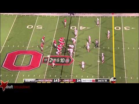 #74 Jack Mewhort, LT, Ohio State Vs Wisconsin '13