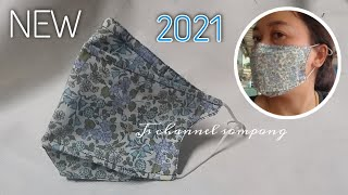 New Style 2021 Face Mask DIY sewing Easy No Pattern And very nice Fit Mask