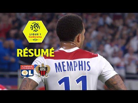 Olympique Lyonnais - OGC Nice ( 3-2 ) - Résumé - (OL - OGCN) / 2017-18