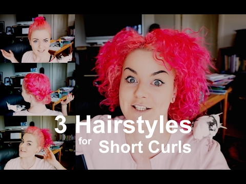 3 easy hairstyles short curly