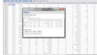 HOW TO VIDEO Dr Ami Gates StatCrunch Contingency Tables Probability