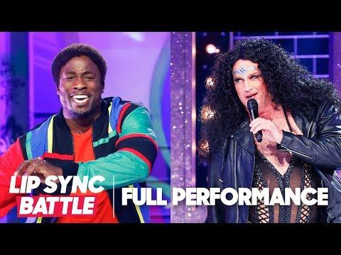 "Akbar Gbaja-Biamila's ""Bust a Move"" vs. Matt Iseman's ""Believe"" | Lip Sync Battle"
