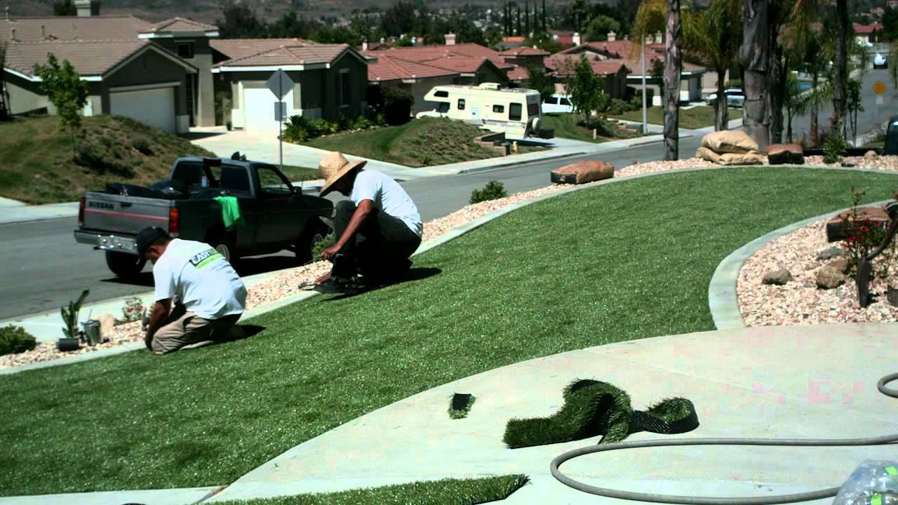 synthetic grass installation front yard moreno valley ca