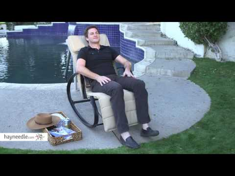 PSM377 PSM378 Belham Living Key Haven Zero Gravity Rocking Chair with Cushion - Product Review Video