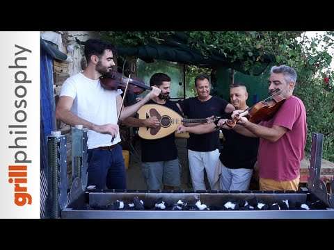 Spit Roast Grilling, Mutton, Friends, Violin, And Lute At Kosti's Shack (EN Subs) | Grill Philosophy