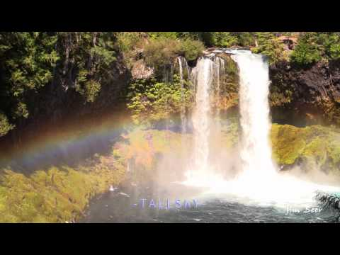 Awesome Waterfall with Rainbow - Koosah Falls Oregon