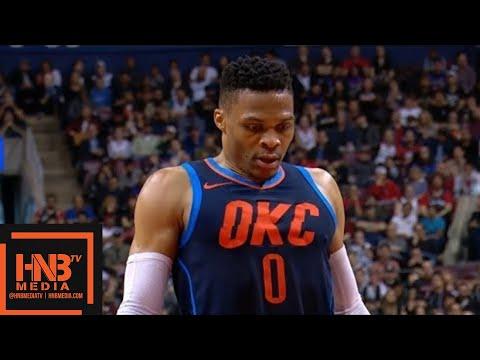 Toronto Raptors vs Oklahoma City Thunder 1st Half Highlights / March 18 / 2017-18 NBA Season