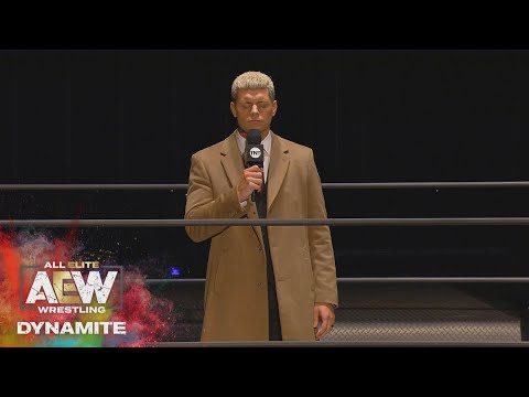 THE MUST SEE OPEN BY CODY AND THE ELITE | AEW DYNAMITE 3/18/20, Empty Arena