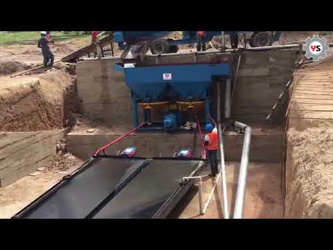 Africa Popular Gold mine use Full sets small scale alluvial gold mining equipment Factory From China
