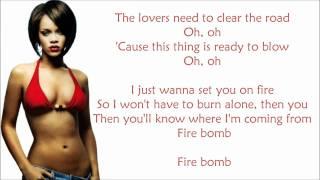 Rihanna - Fire Bomb Lyrics Video