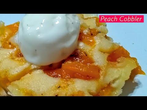 Easy Peach Cobbler   Fresh peach cobbler   easy peach recipe