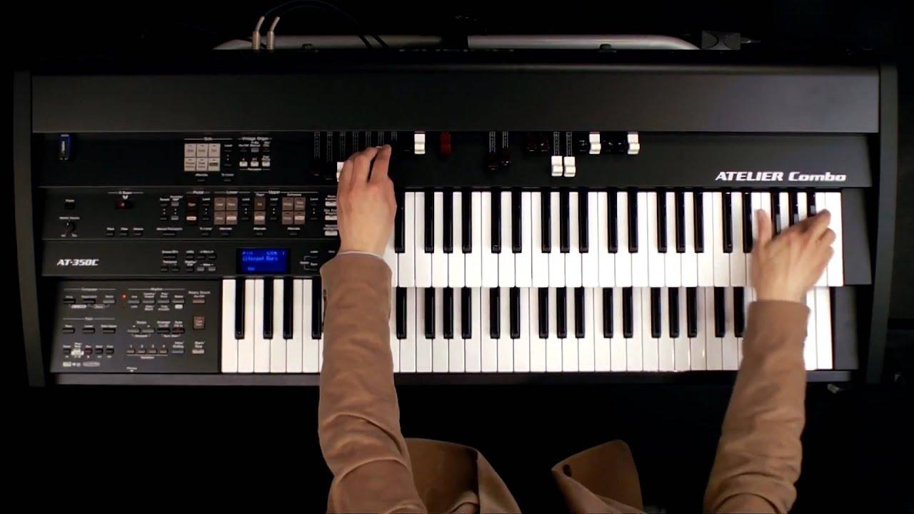 Gospel organ song using rotary effect