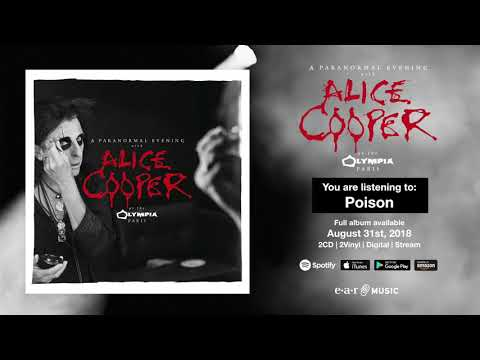 Alice Cooper Poison  at the Olympia in Paris  Full Song Stream  Album OUT August 31st