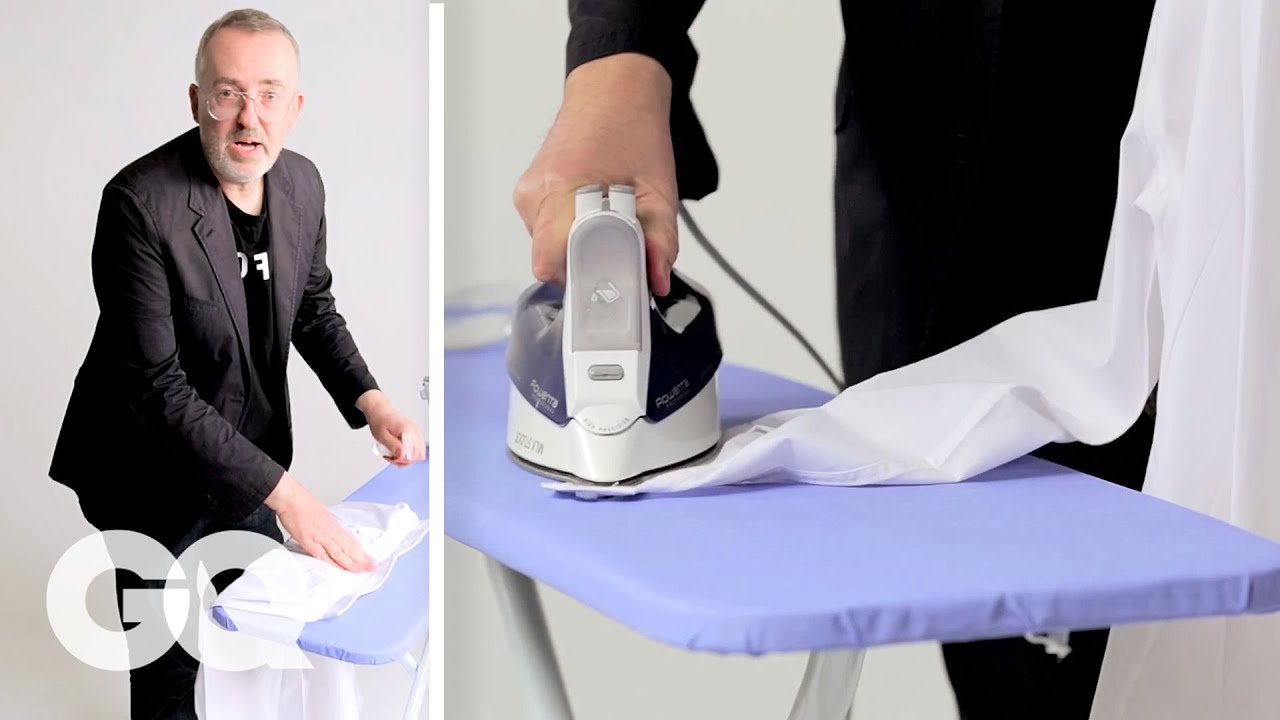 How To Iron A Dress Shirt In 90 Seconds Gq Youtube
