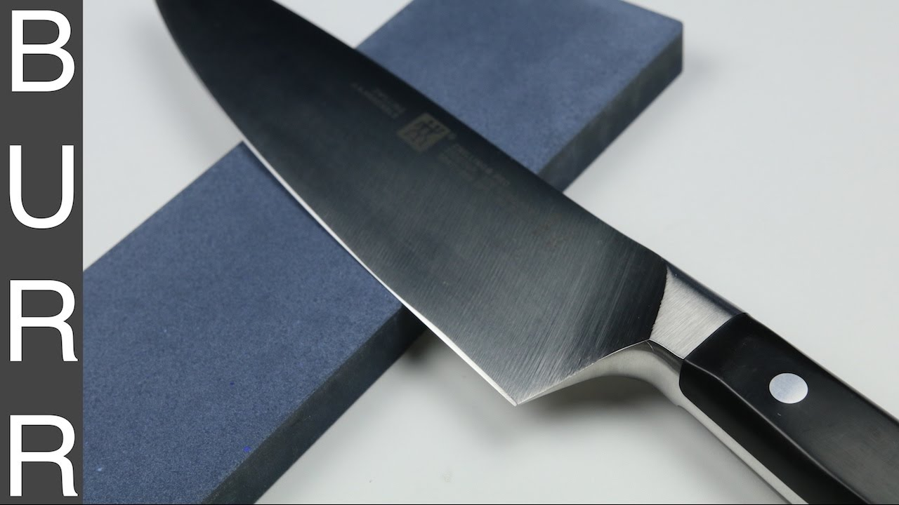 how to sharpen zwilling pro chef knife on shapton pro 320