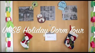 ucsb dorm tour holiday edition