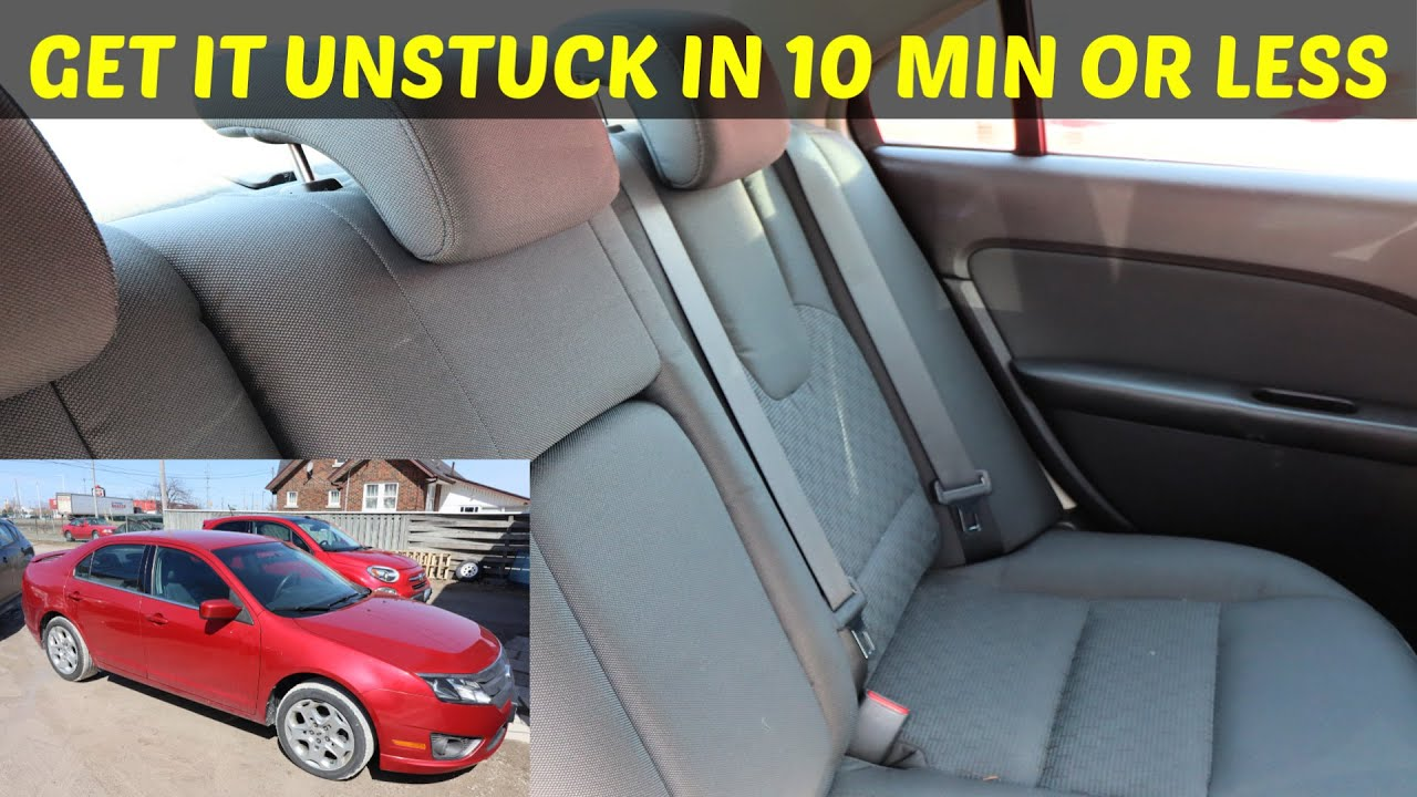 How To Fix Stuck Rear Seat Belt On Ford Fusion - YouTubeYouTube