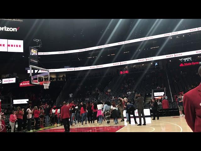 Atlanta Hawks Enter The Court ... Hawks vs Raptors ... #TrueToAtlanta #WeTheNorth #NBA #Basketball