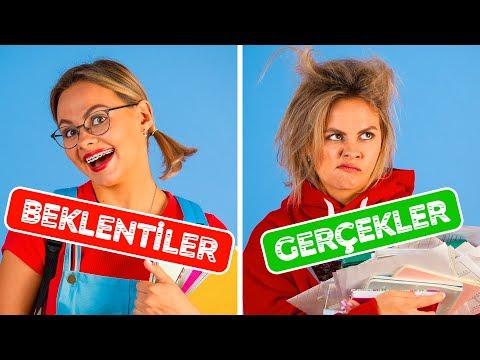 OKULA DÖNÜŞ BEKLENTİLER VS GERÇEKLER || 123 GO!'dan Komik Durumlar
